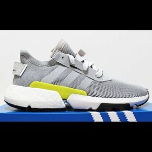 $120 ADIDAS POD-S3.1 Shock-Yellow Grey Boost Foam